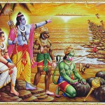 hanuman-and-vanar-sena-build-bridge-of-rocks-across