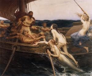 "Herbert James Draper - ""Ulysses and the Sirens"""