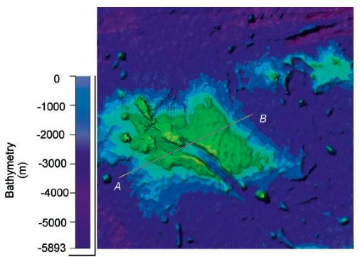 Prospezione sonar del continente sommerso (Fonte: Mohriak et al. - 2010).