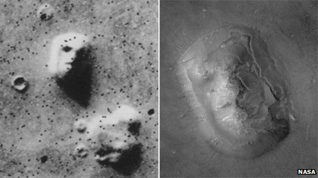 face on mars and moon - photo #9