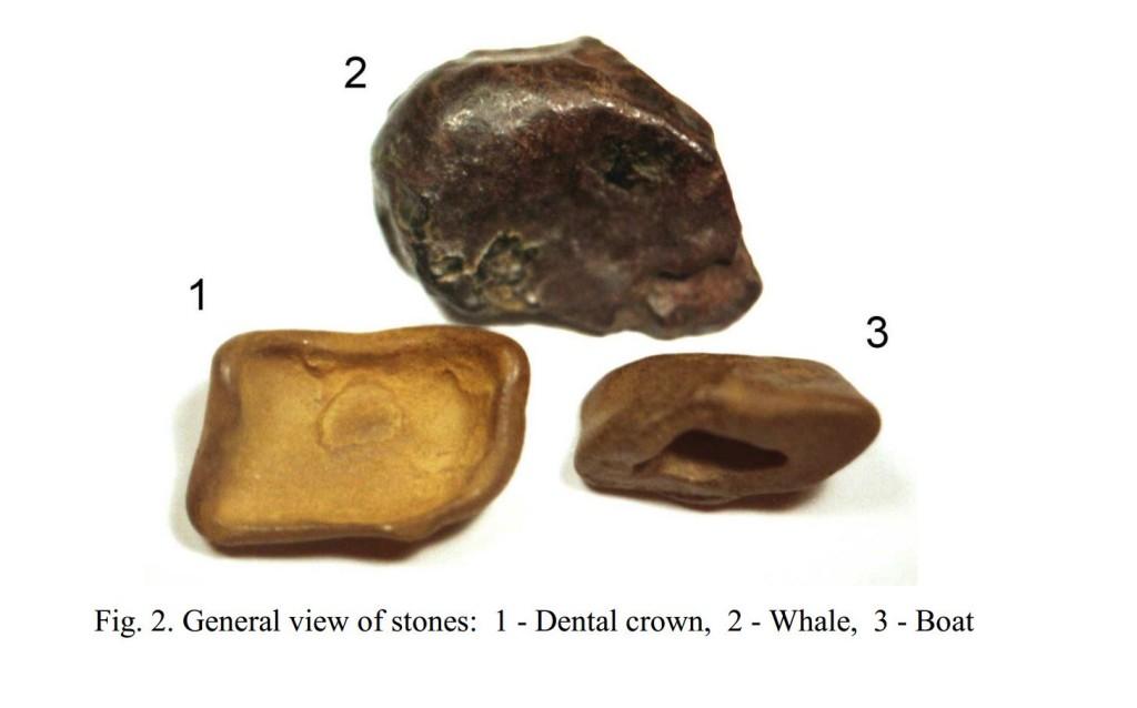 Alcuni campioni di rocce fuse ritrovati da Zoblin.