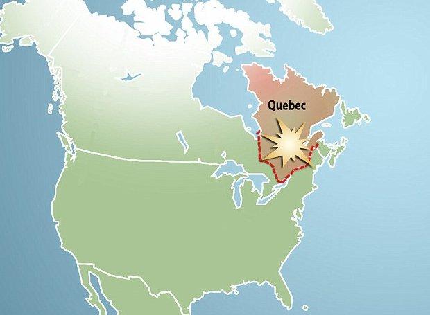 impatto-quebec-nord-america-meteorite