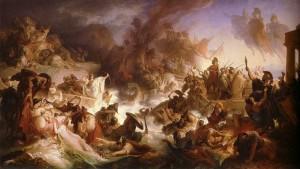 Kaulbach,_Wilhelm_von_-_Die_Seeschlacht_bei_Salamis_-_1868