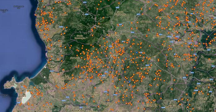 mappa-georeferenziata-nuraghi-sardega-nurnet-alto-oristanese