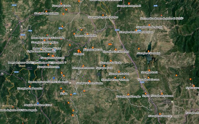 mappa-georeferenziata-nuraghi-sardegna-nurnet-fonni